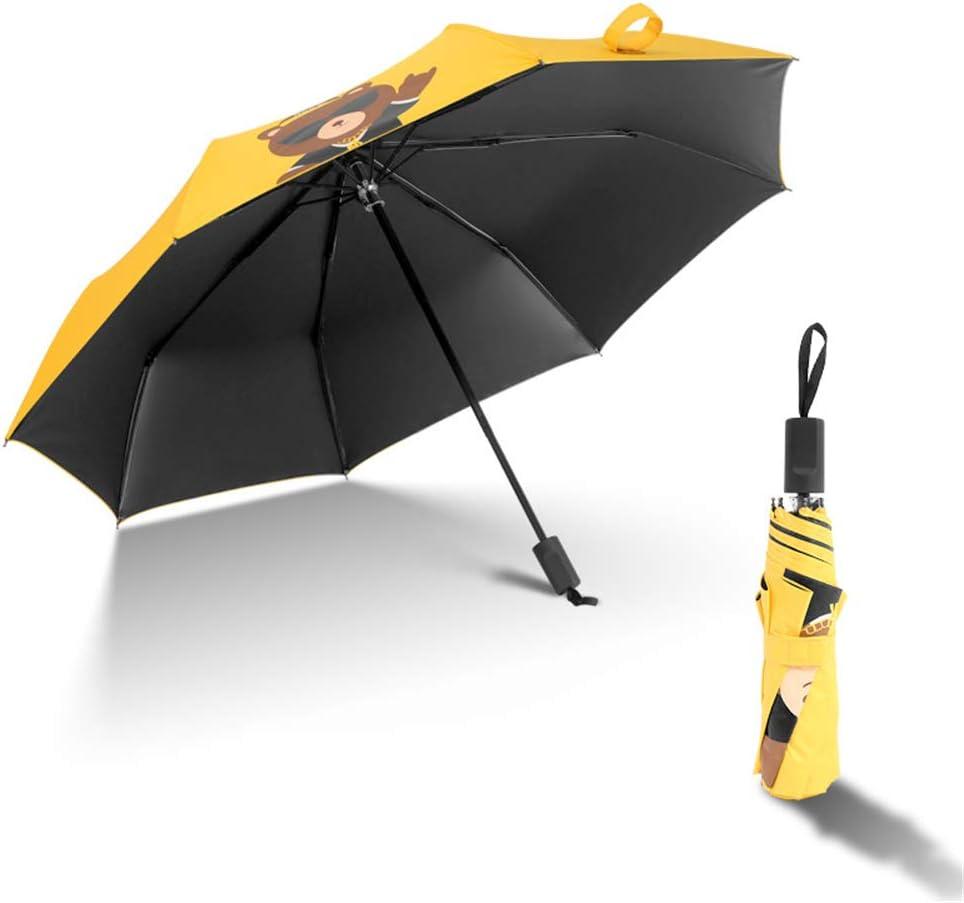 JUNDY Paraguas Plegable a Prueba de Viento de la protección Solar de la Moda Paraguas Paraguas Plegable Triple protección UV color2 96cm: Amazon.es: Hogar