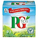 PG Tips Pyramid Bags, Premium Black Tea, 40 Count, Net Wt. 4 Ounce (Pack of 6)
