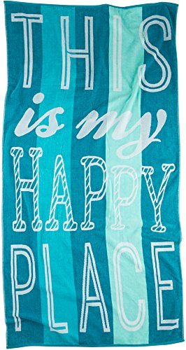 Tropix This is My Happy Place Beach Towel One Size
