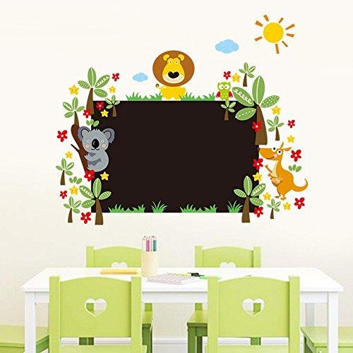Pakdeevong shop Cute lion animal wall sticker PVC flower chalk board blackboard wall sticker wallpaper decal wallpaper wallpaper kids room decorate house
