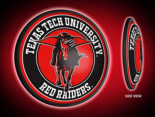 (Shop Grimm TTU - Texas Tech Red Raiders LED Illuminated Slimline Wall Sign Featuring The Masked Rider Logo - Made in USA)