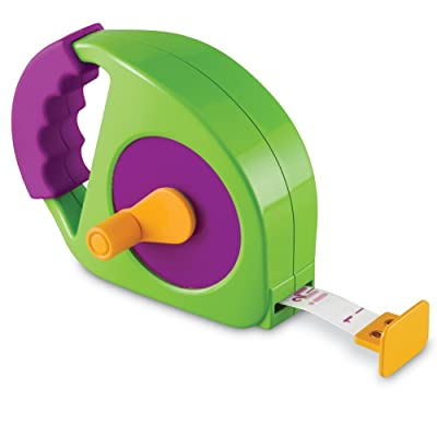 Learning Resources Simple Tape Measure, Measures 4 Feet, Construction Toy, Ages 3+: Toys & Games