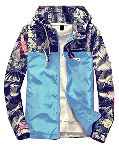 Floral Hooded Windbreaker Jacket Sports product image