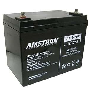 Amazon.com: Amstron 12V / 75Ah Deep Cycle Sealed Lead Acid