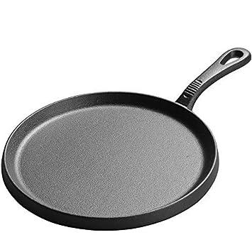 Sartenes de hierro fundido con mango Steak Pan sarten grill antiadherente 25 cm: Amazon.es: Hogar