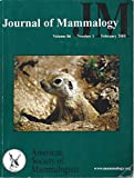 img - for Journal of Mammalogy : Diet of Flat Headed Bats; Dietary Variation of Brazilian Free Tailed Bats; Maternity Roost site selection of Long Eared Myotis; Survival of Big Brown Bats; Ecology of 3 Sympatric Felids in Thailand book / textbook / text book