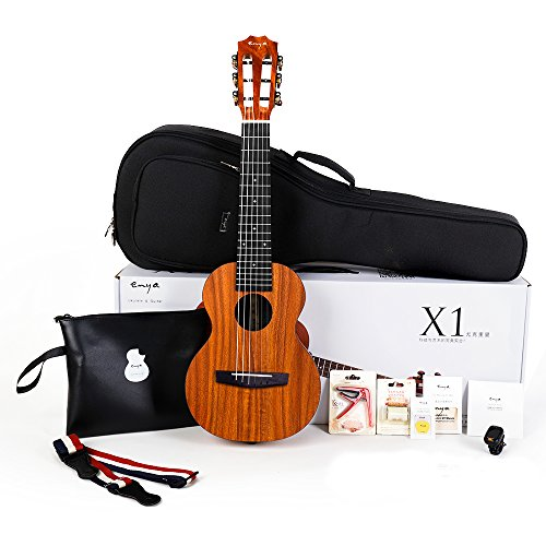 Enya EGL-X1 Guitar Ukulele HPL Guitarlele 28 inch Kit with Padded Gig Bag,String,Tuner,Strap,Capo,Picks,Polishing Cloth by ENYA