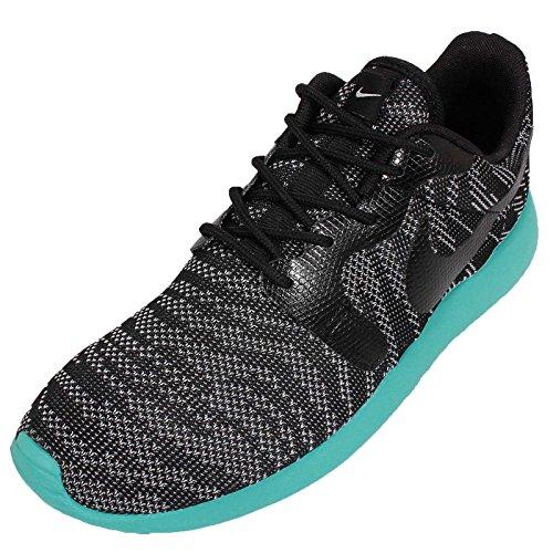 Nike Roshe Run Knit Jacquard - zapatilla deportiva de material sintético mujer wolf grey black light retro 002