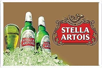 Amazon.com: Stella Artois Beer Tin Cartel por los alimentos ...