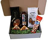 Meat and Cheese Gift Basket Box with Summer Sausage and Wisconsin Cheeses Set