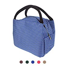 Lunch Bag, Insulated Lunch Box Storage Container Picnic Tote Large Cooler Tote Bag for Men, Women, Kids (Blue)