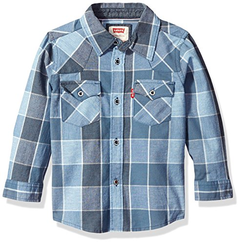 Levi's Big Boys Barstow Western Plaid Shirt, Dress