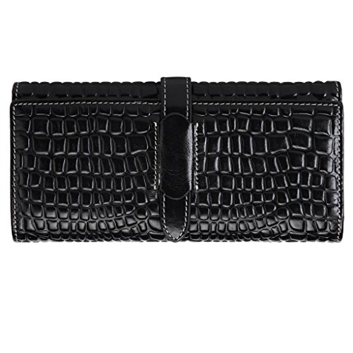 Squeple Women Fashion Leather Wallet Purse Long Handbag Bag Lady (W-F2008-S)