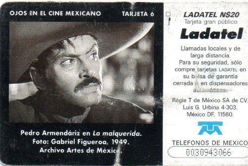 Amazon.com: Pedro Armendariz Ojos En El Cine Mexicano Mexican Ladatel Phone Card Malquerida: Cell Phones & Accessories