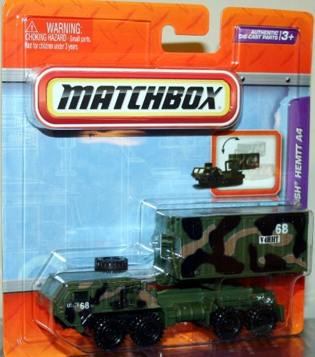 (OSHKOSH HEMTT A4 * MILITARY CAMOUFLAGE * Matchbox Real Working Rigs Die-Cast Vehicle * Real Working Parts *)
