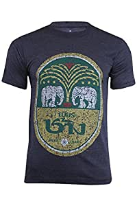Camiseta de algodón de manga corta con diseño de cerveza Chang, con cuello redondo, hecha en Tailandia, gris oscuro, extra-large