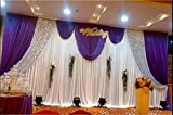 LB Wedding And Celebration Stage Decorations Backdrop Party Drapes With Swag Silk Fabric Curtain (3x6M, Modena) Review