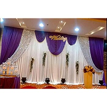 Amazon lb wedding stage decorations backdrop party drapes with lb wedding and celebration stage decorations backdrop party drapes with swag silk fabric curtain 3x6m modena junglespirit