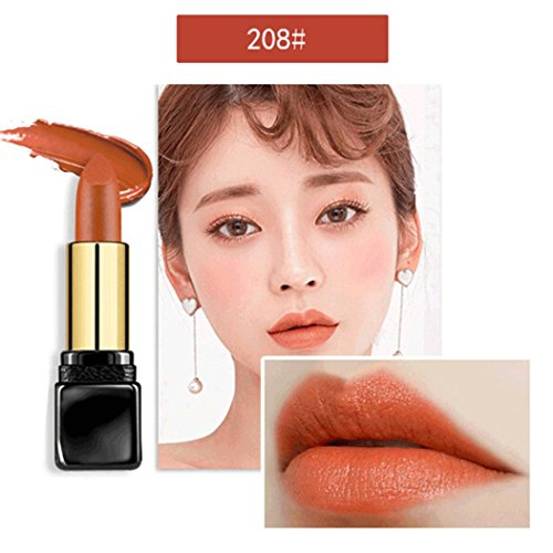 Yeefant No Rub Off Long Lasting Waterproof Cosmetics Waterproof Moisturizing Women Matte Lipstick Lip Gloss Makeup,Pumpkin Color (Moisturizing Pumpkin)