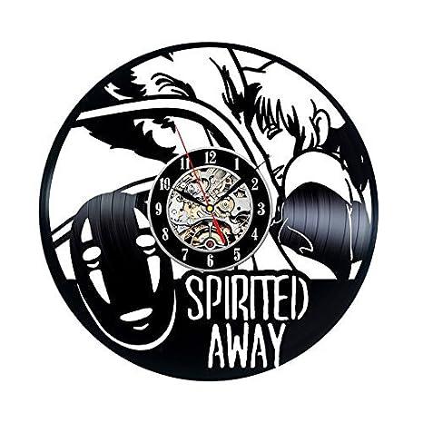 The Film Spirited Away dibujos animados Anime reloj de pared de vinilo, diseño moderno,