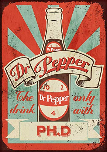 Liu Beishan Dr Pepper Metal Wall Art Tin Signs Warning Animal Funny Restaurant Bar Band Newly Married Birthday Party Christmas