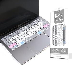 Premium Mac OS Shortcut Hot Keys Keyboard Cover Skin for MacBook Pro Retina 12 Inch A1534 & NEWEST Macbook Pro 13 Inch(No TouchBar A1708,Release 2016/2017)--JRC Copyright Design