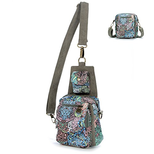 Black Butterfly Dual Purpose Chest Pack Crossbody Bag Canvas Shoulder Bags Original Bohemia for Women Teen Girls Outdoor (Print Canvas Cross Body)