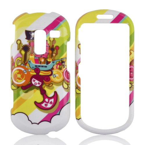 Talon Phone Case for Samsung R570 Messager 3 - Pirate Bay - MetroPCS - 1 Pack - Case - Retail Packaging - Green, Yellow, and Pink