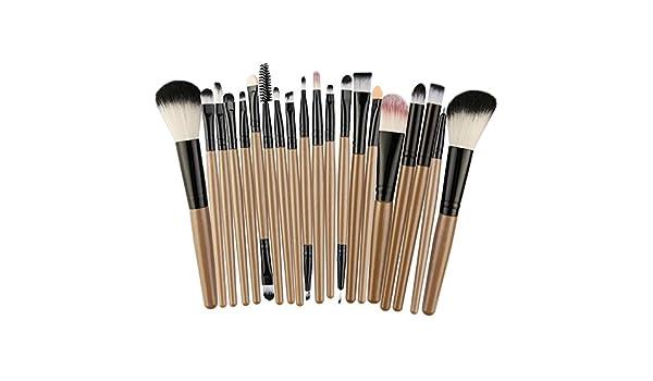 EUCoo - Juego de 22 brochas de maquillaje asequibles y fáciles de ...