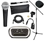 Shure Mobile iOS & Android Recording Studio Kit With Shure SM58 Vocal Microphone, Shure MVi Digital Audio Interface, On-The-Go USB Cable, 20-Foot XLR Cable, Windscreen, & A25D Clip (With Boom Stand)