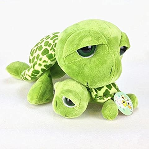 Mikey Store Cute Turtle Plush play toy Gifts for children (35cm, Green) (Rat Bones Jacket)