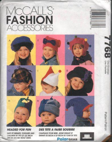 McCalls Fashion Accessories Sewing Pattern 7768 for Infants, Toddlers and (Mccalls Fashion Accessories)