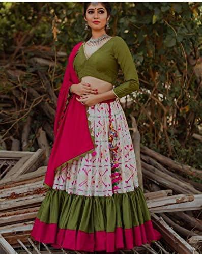 AMIT FASHIONS Designer Designer Wear Indien Lehengha Choli Semi Cousu pour Femmes