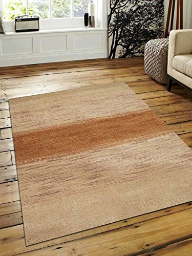 Rugsotic Carpets Hand Knotted Gabbeh Wool 3' X 5' Area Rug Contemporary Beige L00215 from Rugsotic Carpets