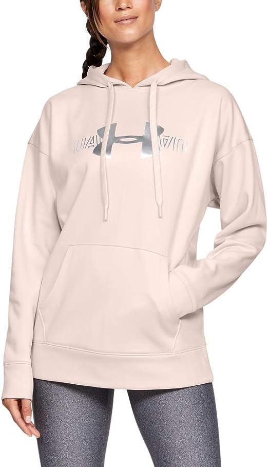 Ladies Under Armour UA Fleece Sportstyle Graphic Logo Pullover Hoodie Grey S M L