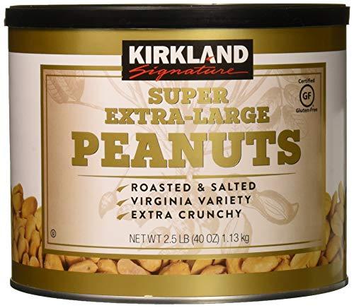 Kirkland Signature Nuts, Super XL VA Peanuts, 40 Ounce (Pack of 2) (Extra Large Peanuts)