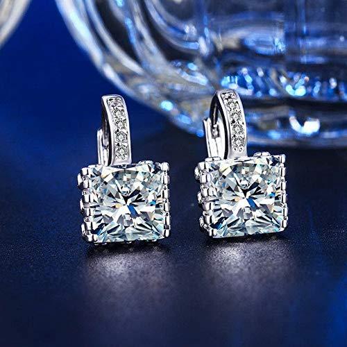 Rhame Wedding Engagement Crystal Cubic Zirconia Drop Dangle Ear Hoop Earrings Jewelry | Model ERRNGS - 20199 |