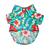 Cheap United Pups Hawaiian Shirt for Dogs (Chill Pups Blue, Size 1: Max Neck 8″ Chest 14″) Blue Size 1