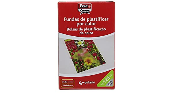 Amazon.com : Fixo 1021400 Box of 100 Laminating Pouch ...