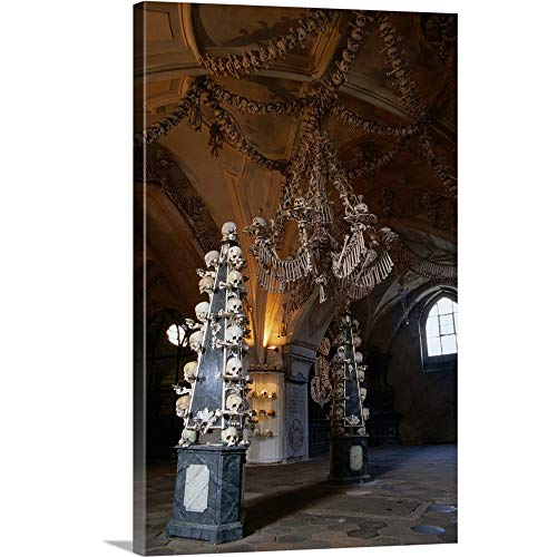 Great Big Canvas Gallery-Wrapped Canvas Entitled A Bone Chandelier in The Sedlec Ossuary, Sedlec, Czech Republic 24