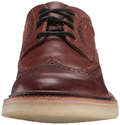 Frye Mens Luke Wingtip Oxford Brown