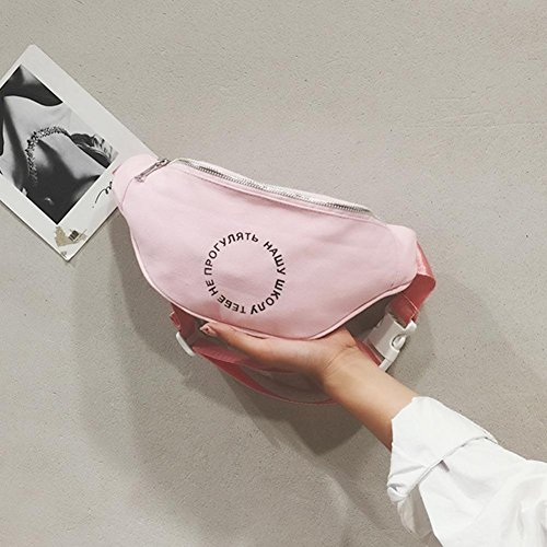 Bag Fanny Belt Women Chest Canvas Pink Pack Ecotrump Shoulder Satchel Pouch Casual Waist qxZpFwa81
