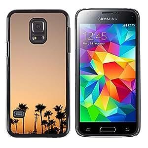 LECELL--Funda protectora / Cubierta / Piel For Samsung Galaxy S5 Mini, SM-G800, NOT S5 REGULAR! -- Trees Sunset Sunrise Colorful Sky --