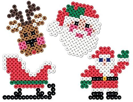 Christmas Hama Beads.Christmas Perler Bead Patterns Fuse Beads Amazon Canada