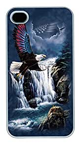 IPhone 4S Cases Independence Eagle Polycarbonate Hard Case Back Cover for iPhone 4/4S White