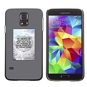 A-type Arte & diseño plástico duro Fundas Cover Cubre Hard Case Cover para Samsung Galaxy S5 (Poster Gray Motivation)