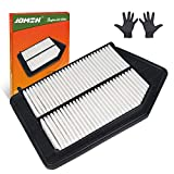 JDMON Engine Panel Air Filter Replacement for Honda Accord (2013-2017) Not for Hybrid Engine and 3.5 Liter, Acura TLX (2015-2017) JD476 (CA11476) with A Pair of Gloves
