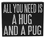 Rustic, distressed sign for the pug lover in your life.