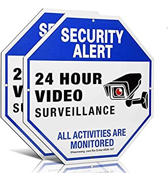 UV 40 X Video Surveillance Signs Outdoor Sheenwang 2-Pack Security Camera Sign