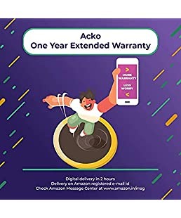 Acko 1 Year Extended Warranty for Audio Products from 4,000 to 6,000 (Email Delivery)